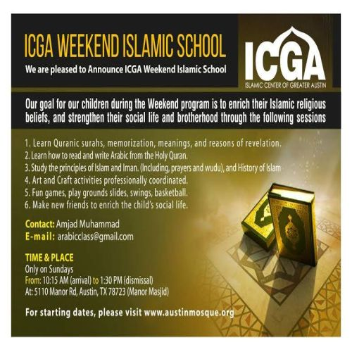 ICGA Weekend Islamic School (ICGAWIS)